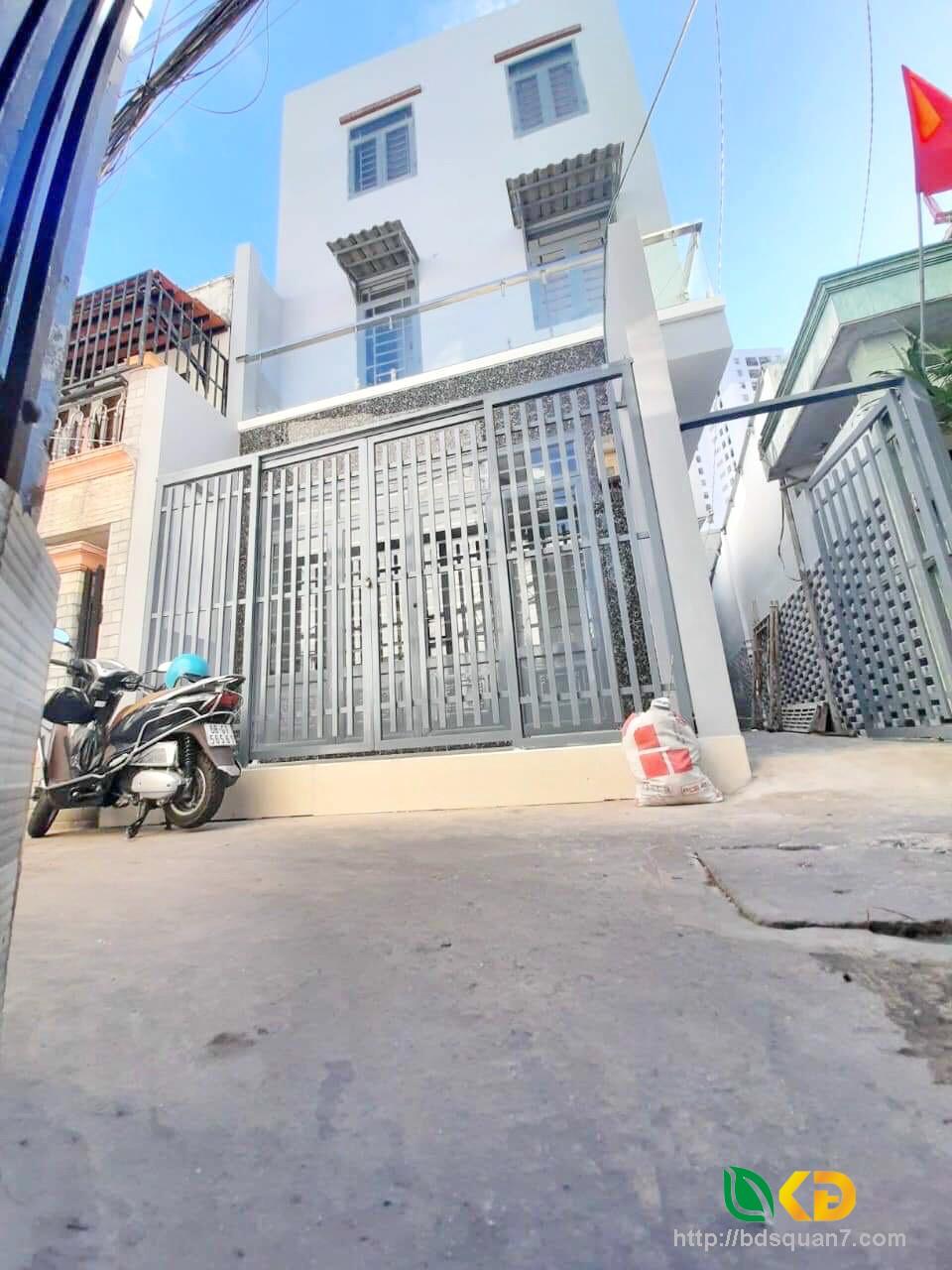 Bán nhà mới xây hẻm 337 đường Trần Xuân Soạn Phường Tân Kiểng Quận 7