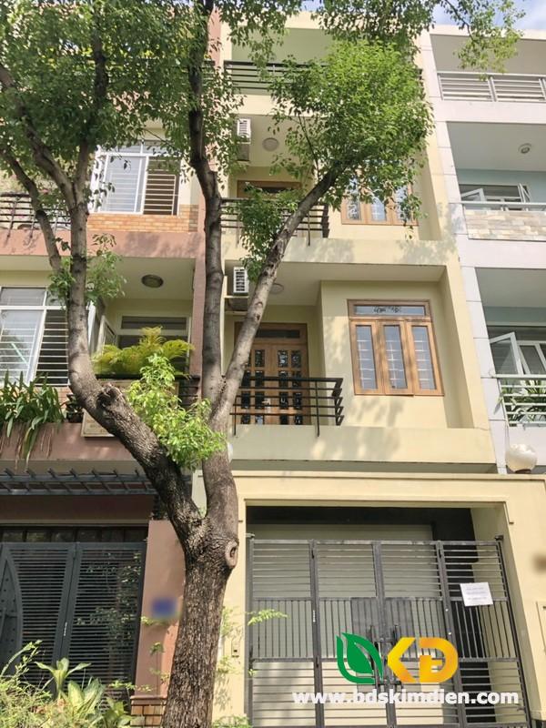Cho thuê nhà 3 lầu mặt tiền Đường số-Khu Tân Quy Đông Quận 7