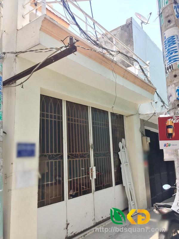 Bán nhà cấp 4 góc 2 mặt tiền hẻm 270 Huỳnh Tấn Phát quận 7.