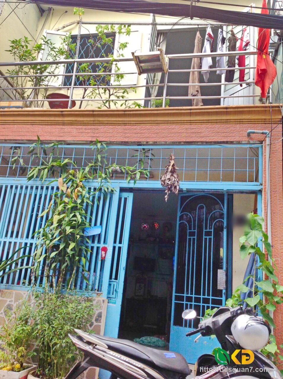 Cho thuê nhà  1 lầu hẻm 63 Lưu Trọng Lư phường Tân Thuận Đông Quận 7